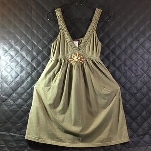 Mark Womens Olive Green Summer Dress Sz S/P